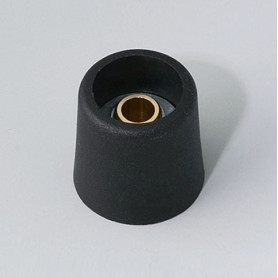 A3116069 / COM-KNOBS 16 - Sin elemento de marcaje 16x16mm - PA 6 - nero - Orificio de eje 6 mm