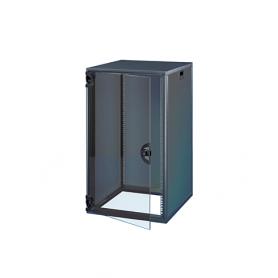 15230-020 / Armario Novastar con puerta acristalada y panel trasero - Slim-Line (RAL 7021 / 767 Al x 553 An x 600  Pr)