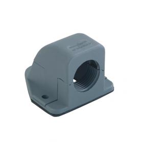 5500.20.50 / Prensaestopas Codo con reborde sintético 90 ° - Rosca de entrada Métrica - M50x1.5