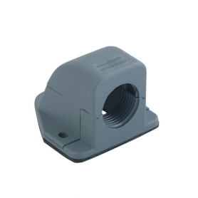 5520.36 / Prensaestopas Codo con reborde sintético 90 ° - Rosca de entrada Pg - Pg 36