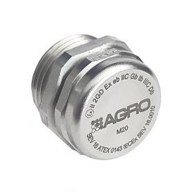 EX2450.20.34 / Elemento de equilibrio de presión latón niquelado con membrana (Incremento de Seguridad Ex e II) - M20x1.5
