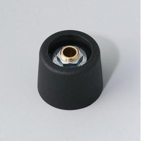 A3120069 / COM-KNOBS 20 - Sin elemento de marcaje 20x16mm - PA 6 - nero - Orificio de eje 6 mm