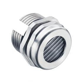2450.12.36 / Elemento de drenaje con rejilla - equilibrio de presión latón niquelado y sintético - M12x1.5