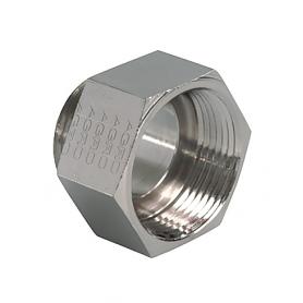 3600.12.09 / Adaptador de latón niquelado con junta tórica (Rosca exterior Métrica M12x1.5 / Rosca interior Pg 9)