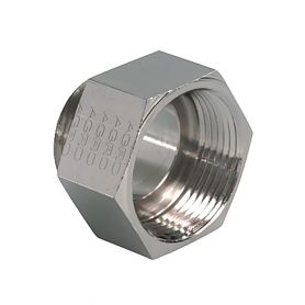 3600.25.21 / Adaptador de latón niquelado con junta tórica (Rosca exterior Métrica M25x1.5 / Rosca interior Pg 21)