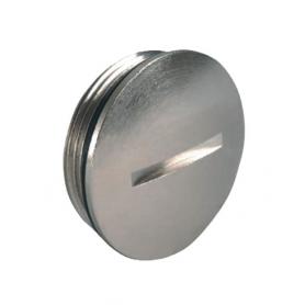 8750.08 / Tapón de bloqueo de latón niquelado con junta tórica - M50x1.5