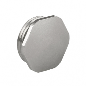 8745.17 / Tapón de bloqueo de latón niquelado sin junta tórica - M16x1.5