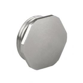 8745.63 / Tapón de bloqueo de latón niquelado sin junta tórica - M63x1.5