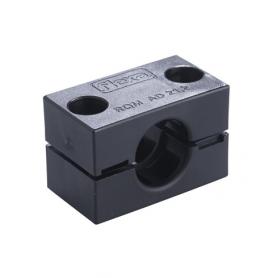 5020.006.216 / Abrazadera de conducto pesada (tamaño pequeño) RQM - V0 (UL 94) - Diámetro externo Ø 21.2 mm
