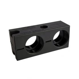 5020.008.204 / Abrazadera de conducto pesada (tamaño pequeño) RQM2 - V0 (UL 94) - Diámetro externo Ø 2 x 28.5 mm