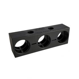 5020.008.205 / Abrazadera de conducto pesada (tamaño pequeño) RQM3 - V0 (UL 94) - Diámetro externo Ø 3 x 28.5 mm