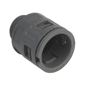 5020.037.020 / Conector Recto para conducto sintético V0 (UL 94) - Diámetro Ext. Ø 21.2 mm - M20x1.5