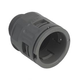 5020.026.013 / Conector Recto para conducto sintético V0 (UL 94) - Diámetro Ext. Ø 18.5 mm - Pg 13