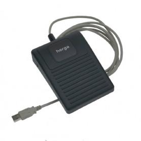 6210 - 0084 / Interruptor de pedal USB - Tecnología Plug and Play (Funciona con Windows ™, Linux ™ y Mac ™)