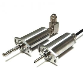 E103 / Sensor de posición lineal de carrera corta (Recorrido eléctrico entre 0-2 mm a 0-50 mm)