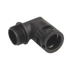 5020.064.225 / Conector de Codo 90 ° Sintético V0 (UL 94) - Diám.Ext.Ø 28.5 mm - Rosca de entrada M25x1.5