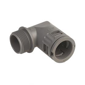 5020.036.040 / Conector de Codo 90 ° Sintético V0 (UL 94) - Diám.Ext.Ø 34.5 mm - Rosca de entrada M40x1.5