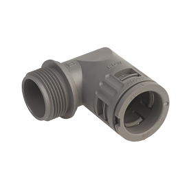 5020.036.063 / Conector de Codo 90 ° Sintético V0 (UL 94) - Diám.Ext.Ø 54.5 mm - Rosca de entrada M63x1.5
