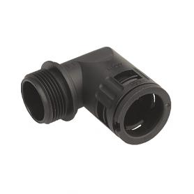 5020.051.210 / Conector de Codo 90 ° Sintético con sellado cónico V0 (UL 94) - Diám.Ext.Ø 10.0 mm - Rosca de entrada M10x1.0
