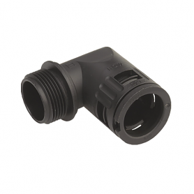 5020.051.212 / Conector de Codo 90 ° Sintético con sellado cónico V0 (UL 94) - Diám.Ext.Ø 13.0 mm - Rosca de entrada M12x1.5