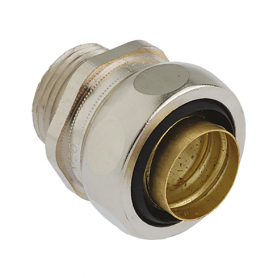 5011.340.025 / Conectores para conductos US-M completos EMC (latón niquelado) SPR / FLEXAgraff - Diám. Ext. Ø 27 mm / M25x1.5