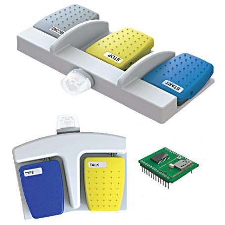 6226 / Interruptor de pedal con tecnología Bluetooth - con hasta 2 transmisores (Clasificación IPX7)