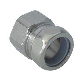 2600.12.14 / Conectores para conducto con rosca interior (latón niquelado) - Diám. Ext. Ø 14 mm / M12x1.5