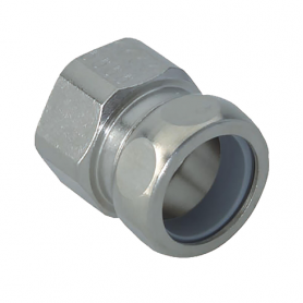 2600.25.27 / Conectores para conducto con rosca interior (latón niquelado) - Diám. Ext. Ø 27 mm / M25x1.5
