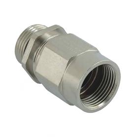 1165.12 / Adaptador AGRO Progress® de latón niquelado con prensaestopas integrado - Ext. M12x1.5 / Int. M12x1.5