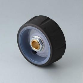 B7136631 / CONTROL-KNOBS 36, iluminación opcional - PC - nero - 36x14,7mm - Orificio de eje 1/4″