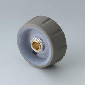 B7136633 / CONTROL-KNOBS 36, iluminación opcional - PC - volcano - 36x14,7mm - Orificio de eje 1/4″