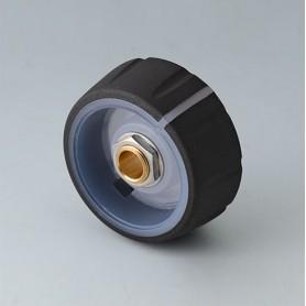 B7236061 / CONTROL-KNOBS 36, iluminación opcional - PC - nero - 36x14,7mm - Orificio de eje 6mm
