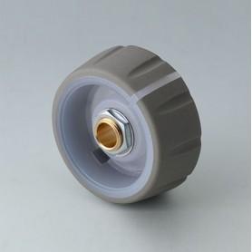 B7236633 / CONTROL-KNOBS 36, iluminación opcional - PC - volcano - 36x14,7mm - Orificio de eje 1/4″