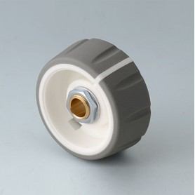 B7236064 / CONTROL-KNOBS 36 - PC - volcano - 36x14,7mm - Orificio de eje 6mm