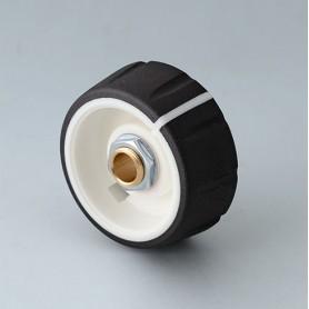 B7236632 / CONTROL-KNOBS 36 - PC - nero - 36x14,7mm - Orificio de eje 1/4″