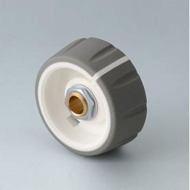 B7236634 / CONTROL-KNOBS 36 - PC - volcano - 36x14,7mm - Orificio de eje 1/4″