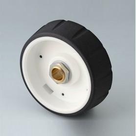 B7146632 / CONTROL-KNOBS 46 - PC - nero - 46x14,7mm - Orificio de eje 1/4″