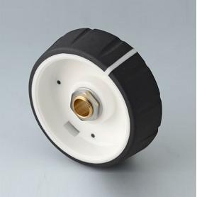 B7246632 / CONTROL-KNOBS 46 - PC - nero - 46x14,7mm - Orificio de eje 1/4″