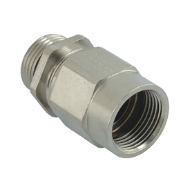1165.80.20.140 / Adaptador AGRO Progress® de latón niquelado con prensaestopas EMC integrado - Ext. M20x1.5 / Int. M20x1.5