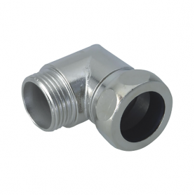 5000.32.27 / Conectores de conducto de codo de 90 ° (latón niquelado) - Diam. Ext. 27 mm / M32x1.5