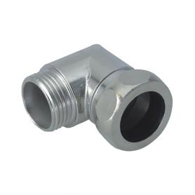 5000.21.27 / Conectores de conducto de codo de 90 ° (latón niquelado) - Diam. Ext. 27 mm / Pg 21
