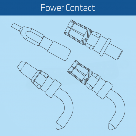 CHPT Series / Terminal Sub-D Combo POWER CONTACT (High Power Contact for Combination D-Sub)