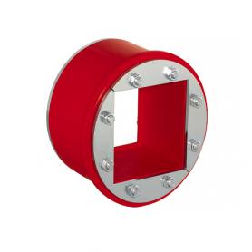 R091 / Tapón obturador RR (CFS-T RR) para varios cables, Acero Inox. - Diám. Ext: 100 mm / Prof. Ext: 84 / Prof. Int.: 60 mm
