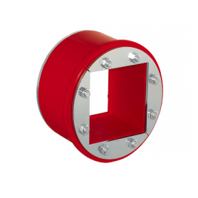 R101 / Tapón obturador RR (CFS-T RR) para varios cables, Acero Inox. - Diám. Ext: 111 mm / Prof. Ext: 85 / Prof. Int.: 60 mm