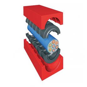 QF21201 / Módulo TCM Quick-Fix con núcleo (CFS-T para profundidad de instalación) - Al 120 mm / An 120 mm / Diam. 79-99 mm
