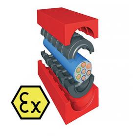 QF21200X / Módulo TCM-EX Quick-Fix con núcleo (CFS-T para profundidad de instalación) - Al 120 mm / An 120 mm / Diam. 0+79-99 mm