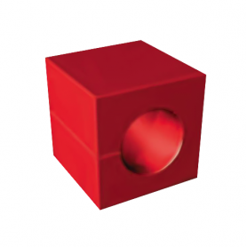 S20210 / Módulo perforado IM 20 sin núcleo - Al 20 mm / An 20 mm / Diam. 10 mm
