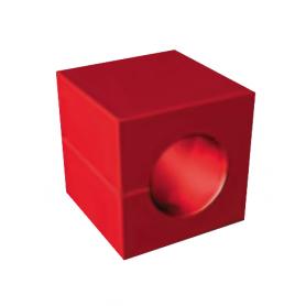 S20422 / Módulo perforado IM 40 sin núcleo - Al 40 mm / An 40 mm / Diam. 22 mm