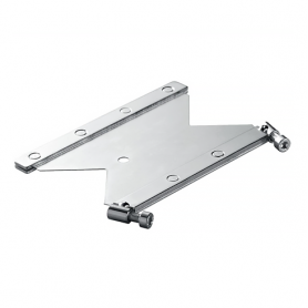 T2417F / Placa de anclaje CFS-T AP con fijación, Acero inoxidable _x000D_ - An 120 mm / Prof. 60 mm