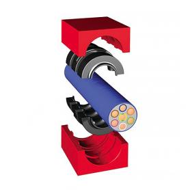 QF10400 / Módulo TCMS Quick-Fix con núcleo (Módulos CFS-T Quick-Fix STRF) - Al 40 mm / An 40 mm / Diam. 0+23-33 mm